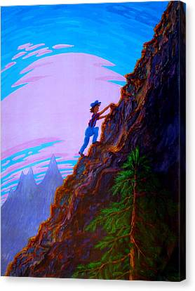 Canvas Print featuring the painting The Difficult And The Steep by Matt Konar