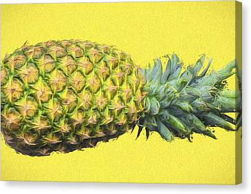 The Digitally Painted Pineapple Sideways Canvas Print