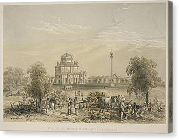 The Dil Khoosha Palace And The Martiniere Canvas Print by British Library