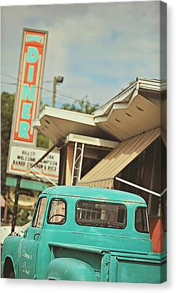 The Diner Canvas Print by Carrie Ann Grippo-Pike