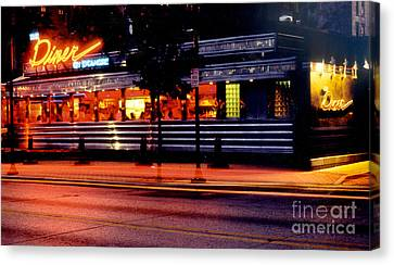 The Diner On Sycamore Canvas Print by Gary Gingrich Galleries