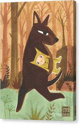 The Dingo Stole My Baby Canvas Print by Kate Cosgrove