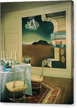 The Dining Room Of Princess Gourielli Canvas Print by Haanel Cassidy