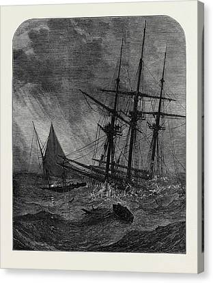 The Disaster In The Channel Cutters Boat Taking Survivors Canvas Print by English School