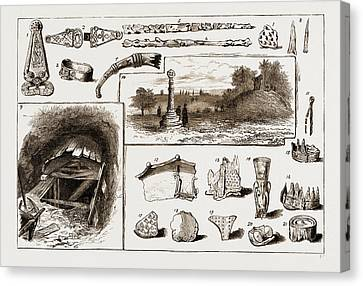 The Discovery Of A Vikings Remains At Taplow, Uk, 1883 1 Canvas Print by Litz Collection