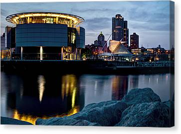 Canvas Print featuring the photograph The Discovery Of Miwaukee by Deborah Klubertanz