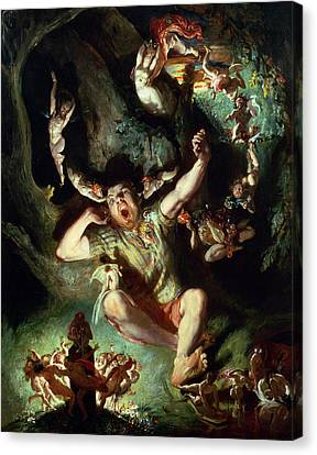 The Disenchantment Of Bottom Canvas Print by Daniel Maclise