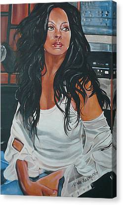 Diana Ross Canvas Print - The Diva by Belle Massey