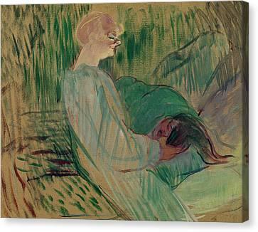 Henri De Toulouse-lautrec Canvas Print - The Divan Rolande by Henri de Toulouse-Lautrec