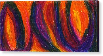 The Divine Fire Canvas Print by Daina White