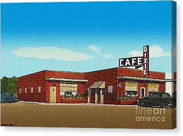 The Dixie Cafe In Selmer Tn Around 1950 Canvas Print