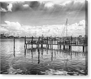 The Dock Canvas Print by Howard Salmon
