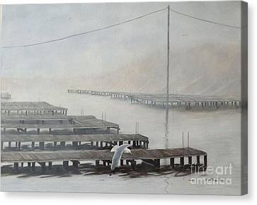 The Docks Canvas Print by Gilles Delage