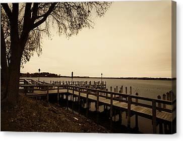 The Docks On Lake Minnetonka Canvas Print by Susan Stone