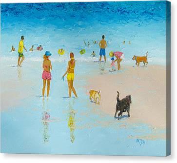 The Dog Beach Canvas Print by Jan Matson