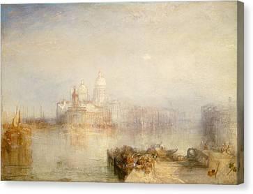 The Dogana And Santa Maria Della Salute, Venice Canvas Print