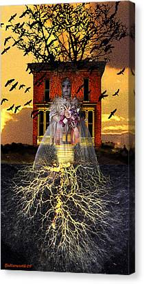 Ghost Story Canvas Print - The Doll House by Larry Butterworth