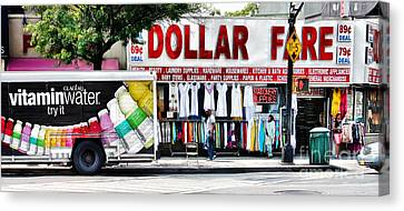 The Dollar Store Canvas Print by Nishanth Gopinathan