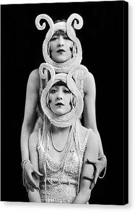 The Dolly Sisters Canvas Print by Underwood Archives