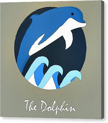 The Dolphin Cute Portrait Canvas Print by Florian Rodarte