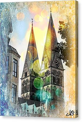 Canvas Print featuring the photograph The Dom  by Nico Bielow