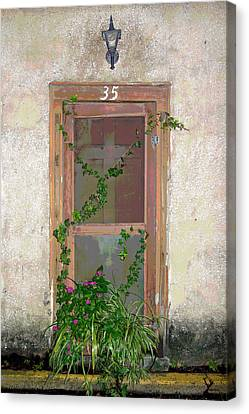 The Door At 35 Spanish Street Canvas Print by Rebecca Korpita