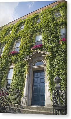 Dublin Building Colors Canvas Print - The Door Dublin Ireland by Betsy Knapp
