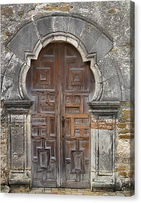 The Door Of Espada Mission  Canvas Print by David and Carol Kelly