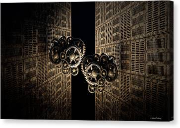 The Door Of The Time Canvas Print by Ramon Martinez