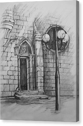 Lamp Post Canvas Print - The Door To... by April Lily