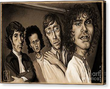 Caricature Canvas Print - The Doors by Andre Koekemoer
