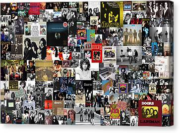 The Doors Collage Canvas Print by Taylan Apukovska