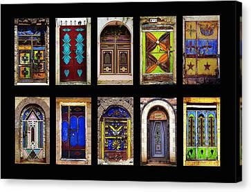 The Doors Of Yemen Canvas Print