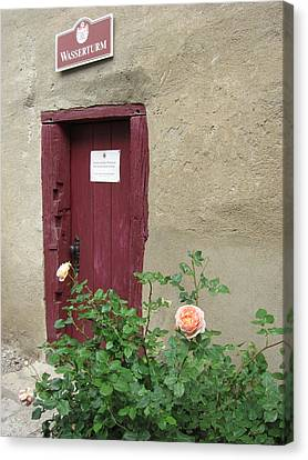 Canvas Print featuring the photograph The Doorway by Pema Hou