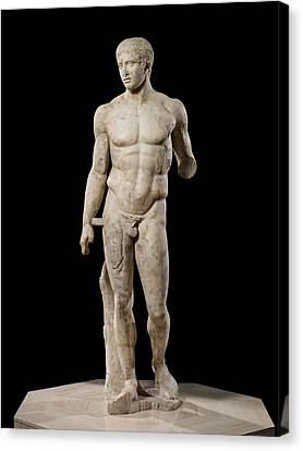 The Doryphoros Of Polykleitos Canvas Print by Roman School
