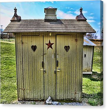 The Double Love Boat Outhouse Canvas Print