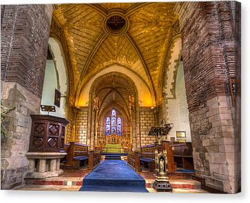 Canvas Print featuring the photograph The Dover Church Of St. Mary In Castro by Tim Stanley