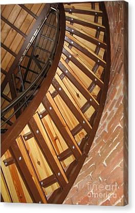The Downside Of Spiral Stairs Canvas Print by Ausra Huntington nee Paulauskaite