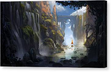 The Dragon Land Canvas Print by Kristina Vardazaryan