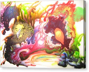 Canvas Print featuring the painting The Dragon by Lucy Matta