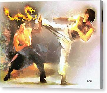 The Dragon Vs Chuck - The Block Up - 4 Of 7 Canvas Print