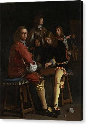 The Draughts Players, Michael Sweerts Canvas Print by Litz Collection