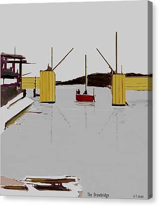 The Drawbridge   Number 16 Canvas Print by Diane Strain