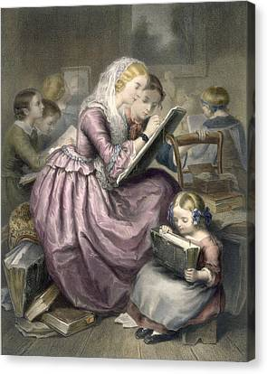 The Drawing School, C.1835 Canvas Print