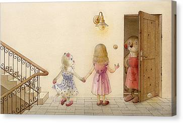The Dream Cat 18 Canvas Print by Kestutis Kasparavicius