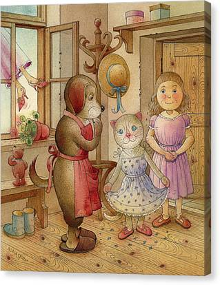 The Dream Cat 19 Canvas Print by Kestutis Kasparavicius