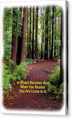 The Dream Is Real Again Canvas Print by Ben Upham III