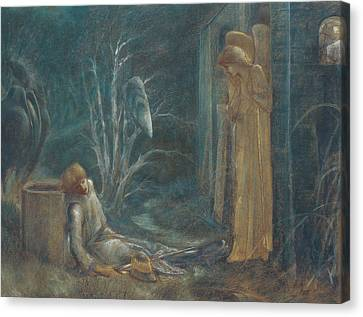 Horse Pastels Canvas Print - The Dream Of Lancelot by Sir Edward Burne-Jones