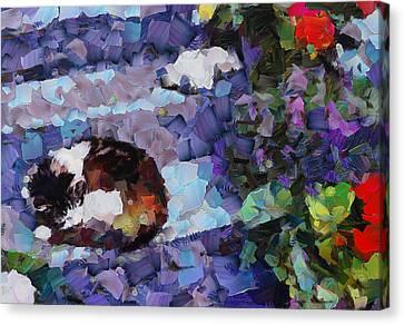 Interior Still Life Canvas Print - The Dreaming Kitten by Yury Malkov