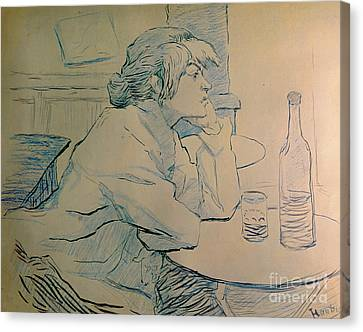 The Drinker Or An Hangover Canvas Print by Henri de Toulouse-lautrec